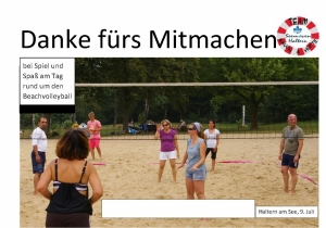 Beachvolleyball Seemöven  Urkunde